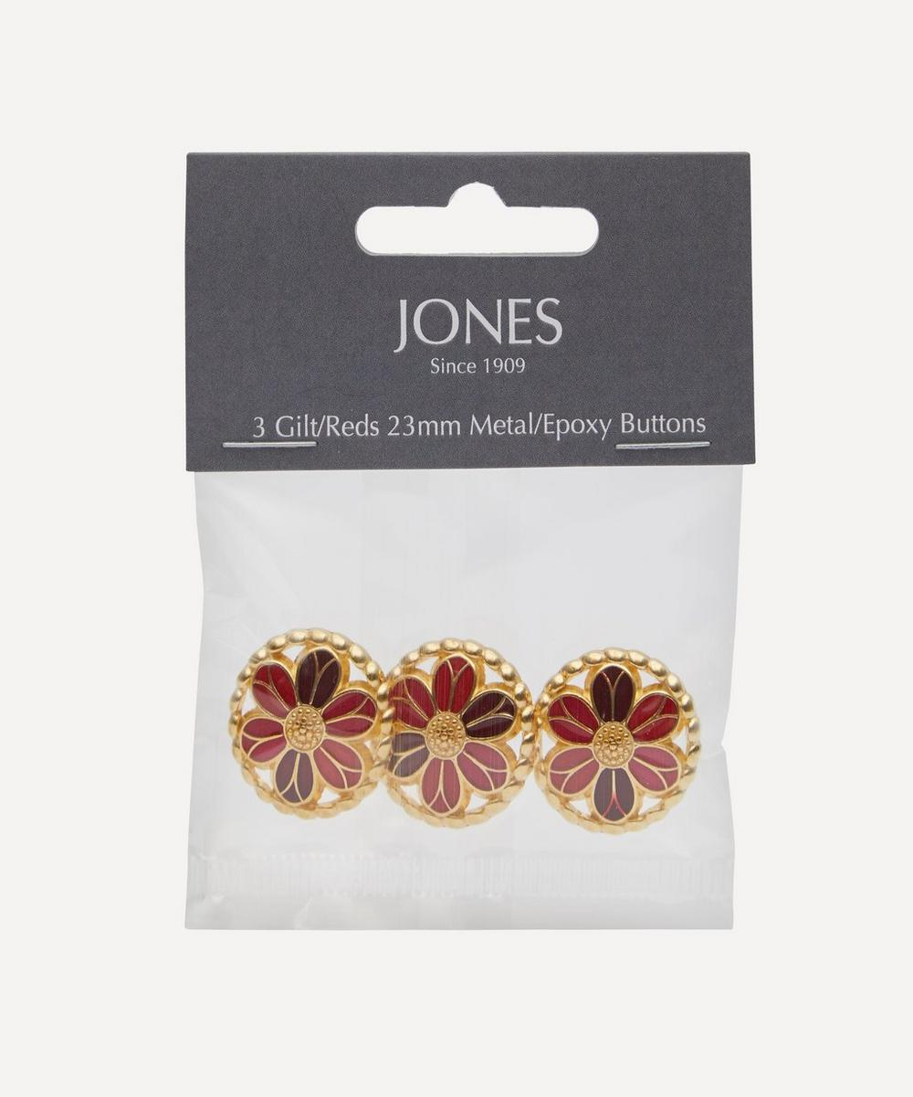 Jones Buttons - Gilt and Resin 23mm Ladies Buttons – Pack of 3