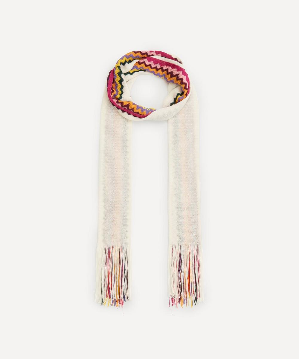 Missoni - Block Colour and Zig-Zag Stripe Cotton-Blend Scarf