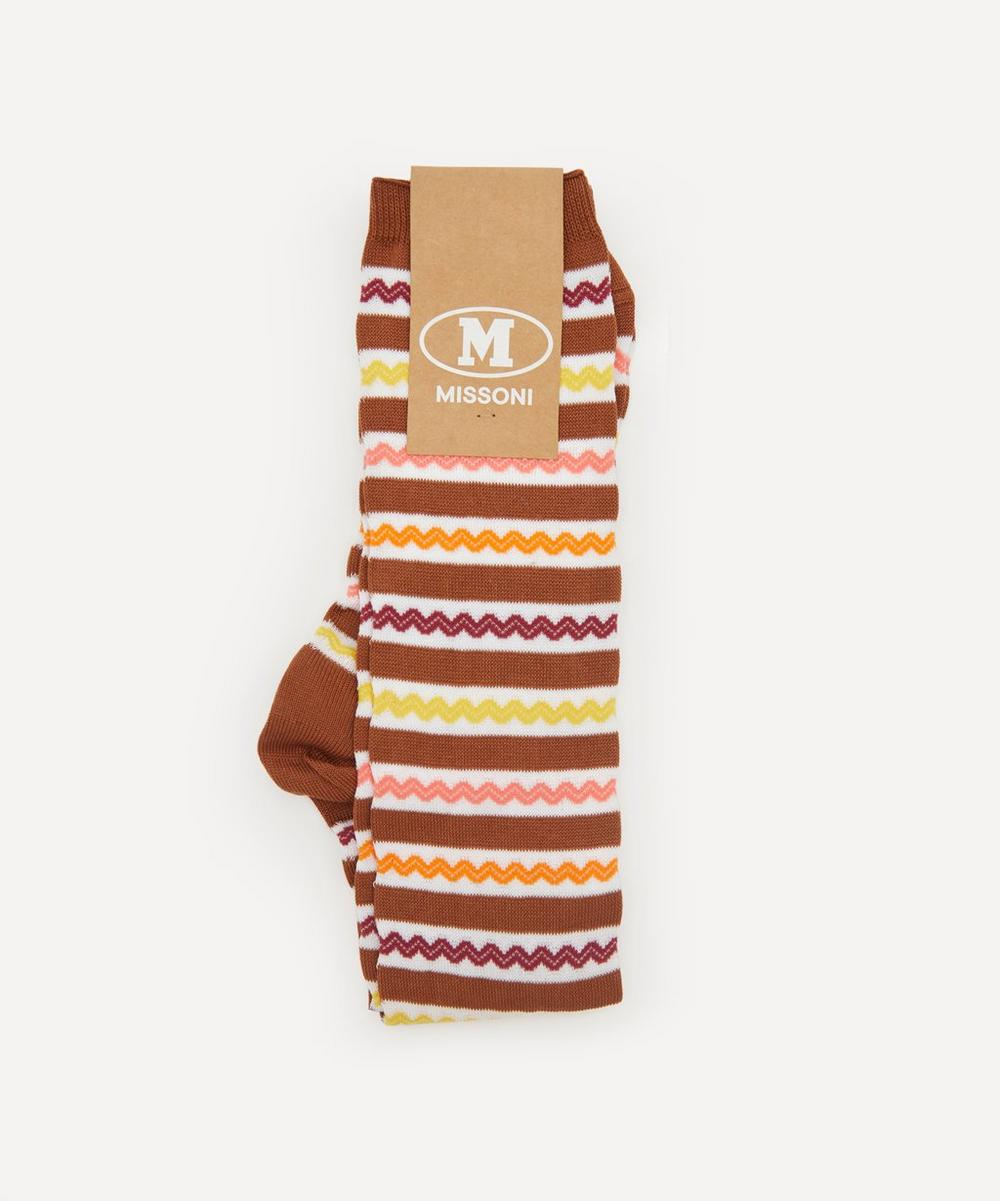Missoni - Zig-Zag Stripe Long Cotton-Blend Socks