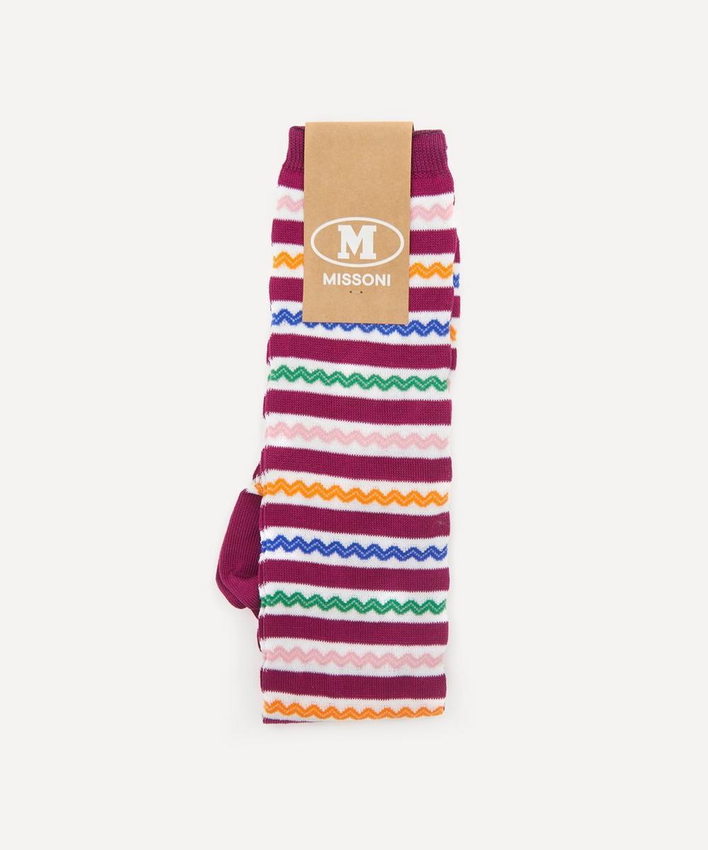 Missoni - Zig-Zag Stripe Long Cotton-Blend Socks