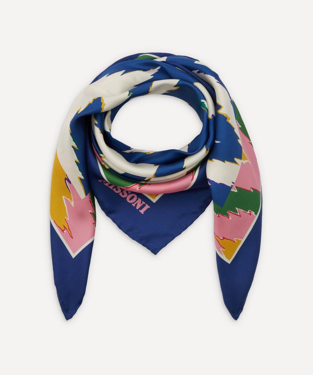 Missoni - Zig-Zag Print Silk Scarf