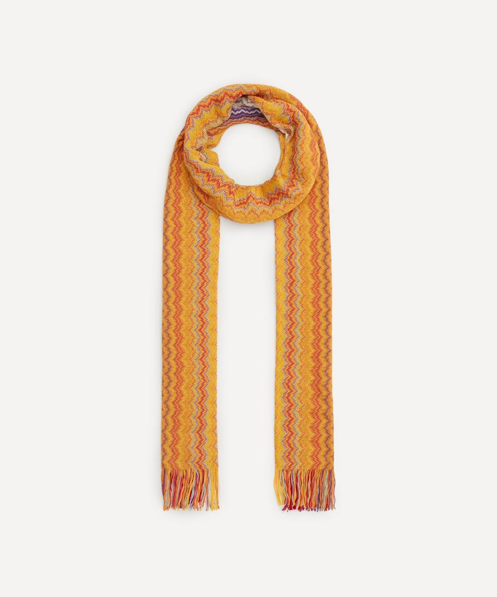 Missoni - Ombre Zig-Zag Stripe Cotton Scarf