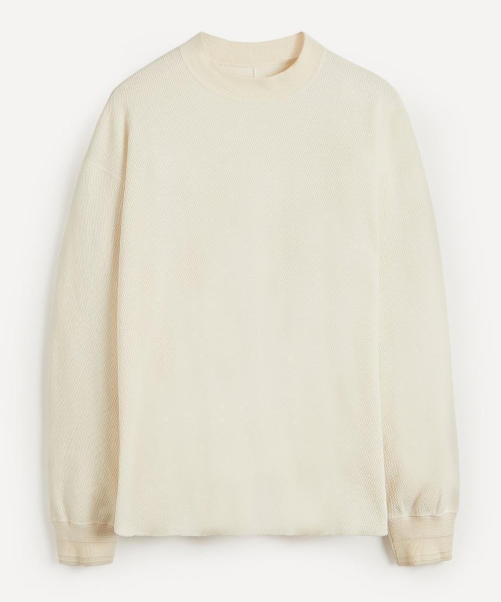 Kuro - Honeycomb Mock Neck Long-Sleeve T-Shirt