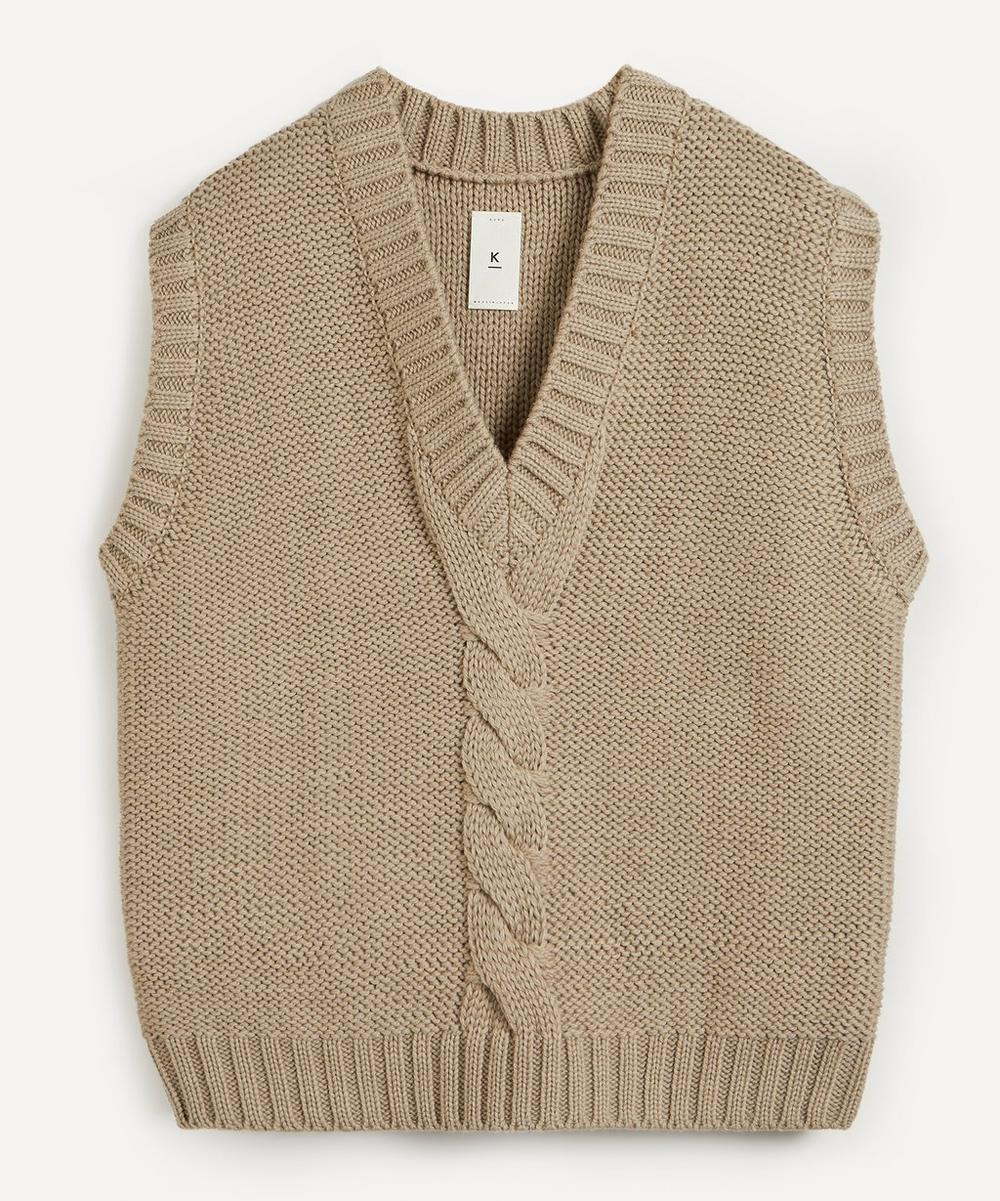 Kuro - 3G Cable-Knit Wool Vest