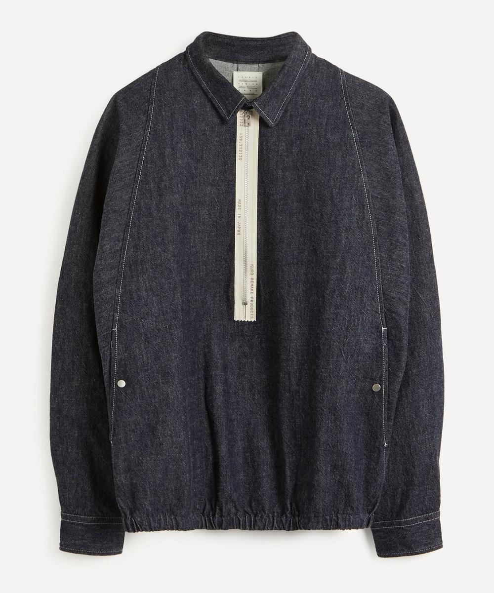 Kuro - Military Zip Blouson Denim Shirt