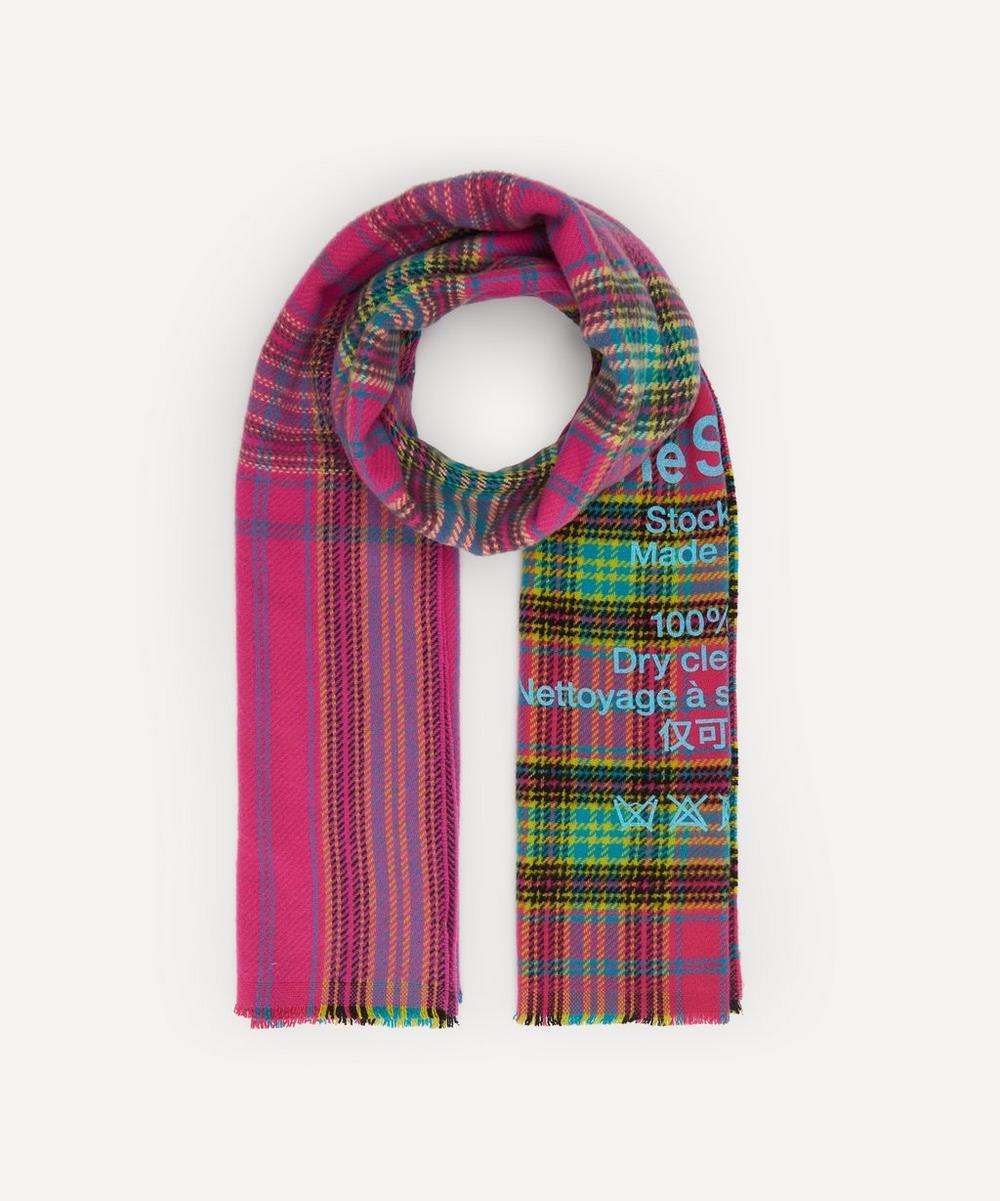 Acne Studios - Cassiar Tartan Check Wool Scarf