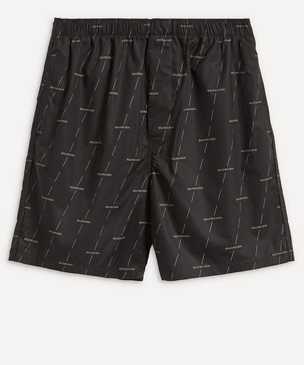 Balenciaga - All-Over Logo Shorts