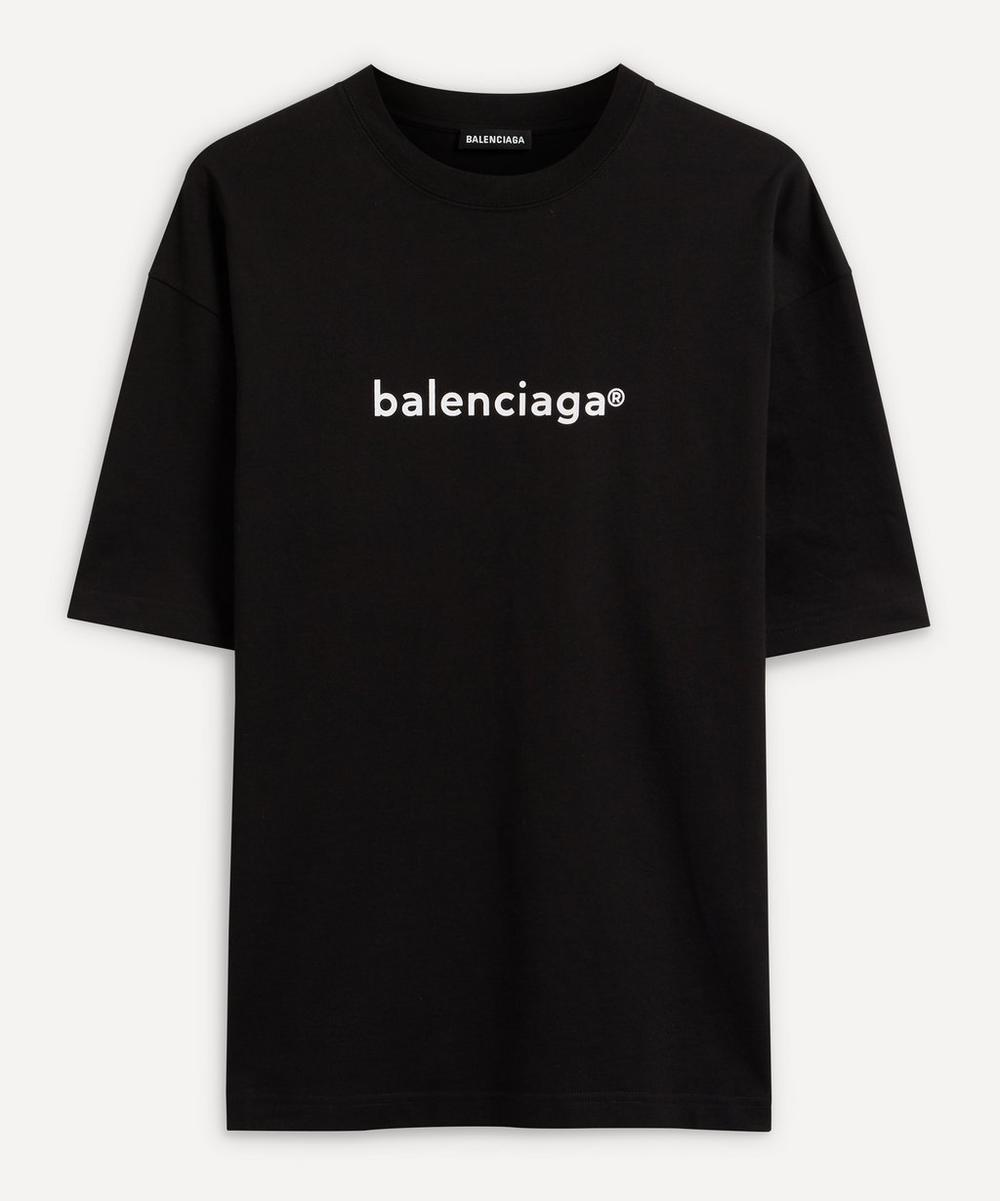 Balenciaga - Chest Logo Cotton T-Shirt