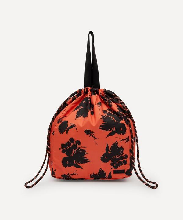 Ganni - Recycled Tech Fabric Drawstring Tote Bag