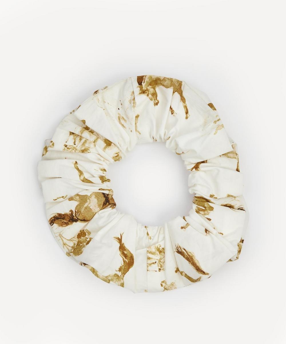 Ganni - Printed Cotton Poplin Scrunchie