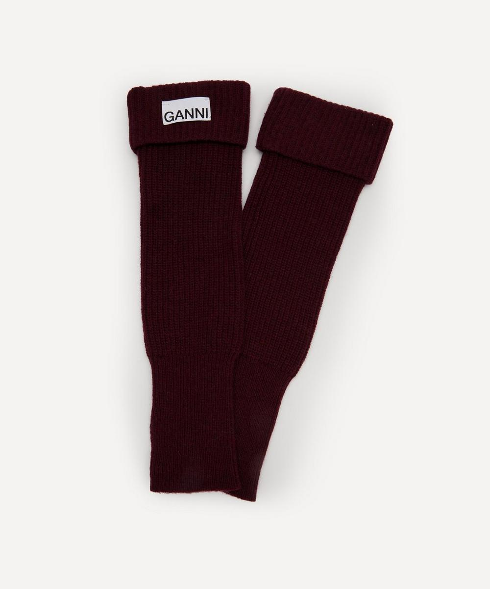 Ganni - Recycled Wool-Blend Wrist Warmers