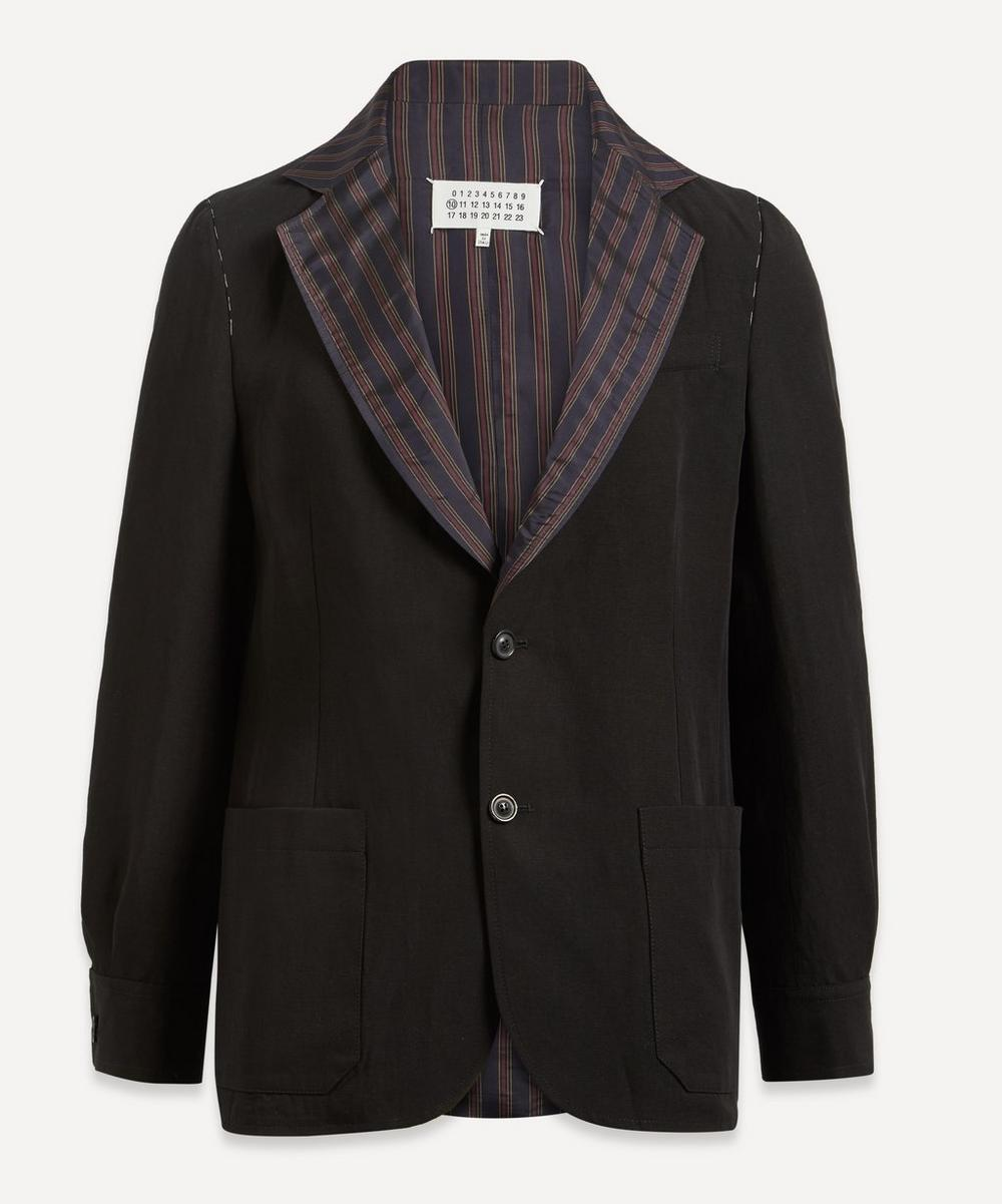 Maison Margiela - Striped Collar Blazer