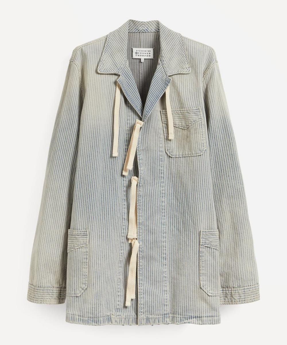 Maison Margiela - Tie-Front Pinstripe Overshirt