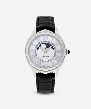 Lasenby Moonphase Mother-Of-Pearl Leather Strap Watch