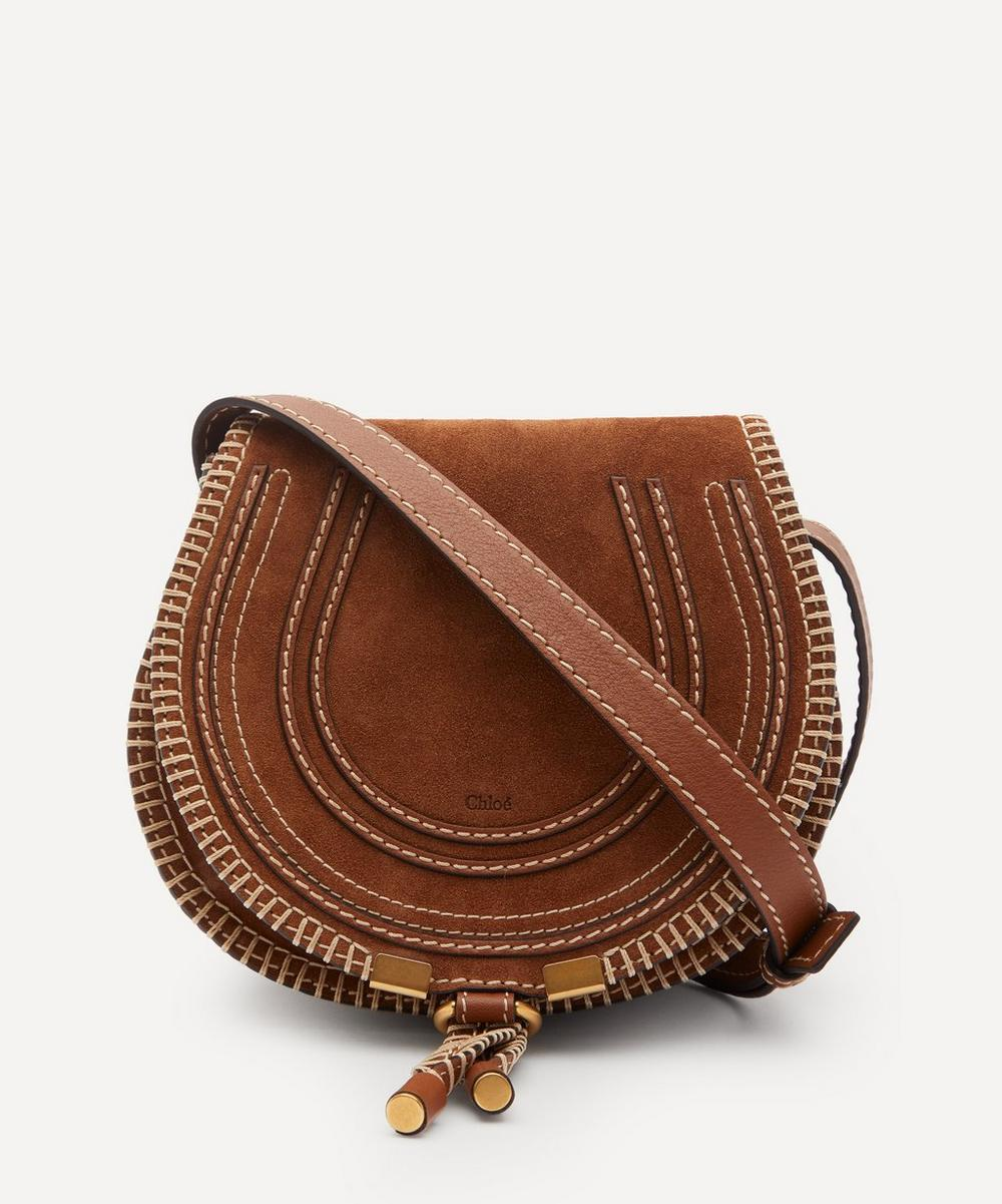 Chloé - Marcie Mini Suede Saddle Bag