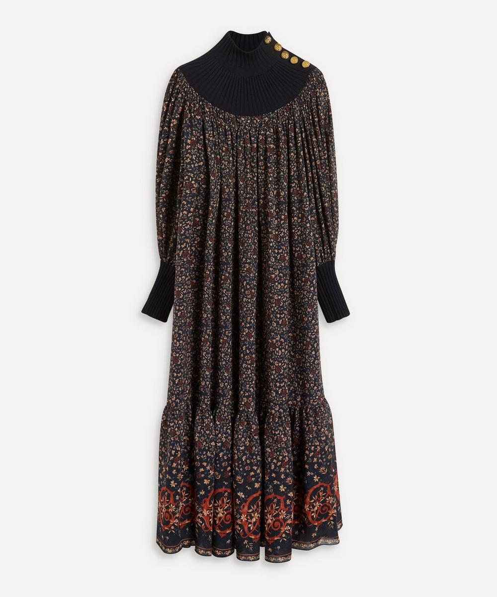 Chloé - High-Neck Silk Dress