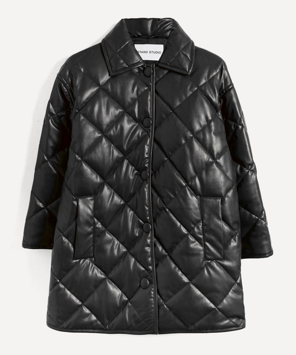 STAND STUDIO - Jacey Quilted Faux-Leather Coat