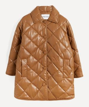 Jacey Quilted Faux-Leather Coat