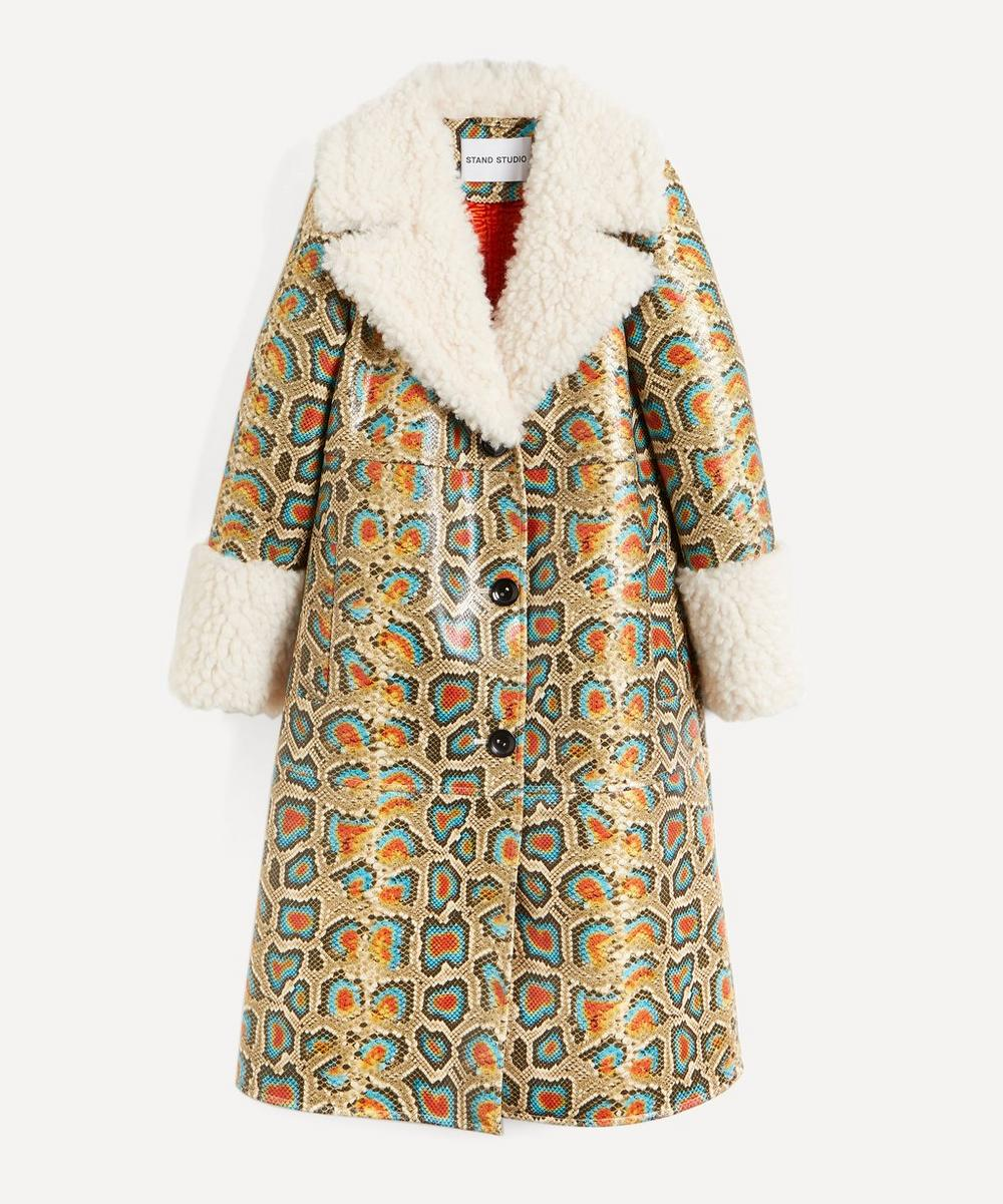 STAND STUDIO - Linda Faux-Shearling Long Coat