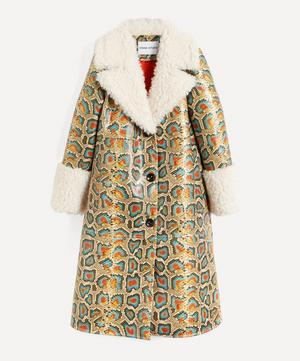 Linda Faux-Shearling Long Coat