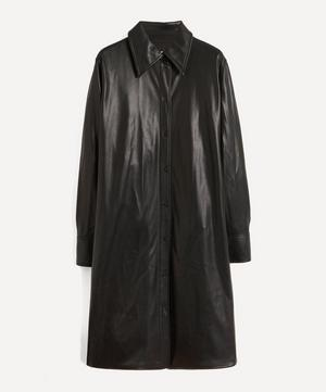 Remi Faux-Leather Shirt-Dress