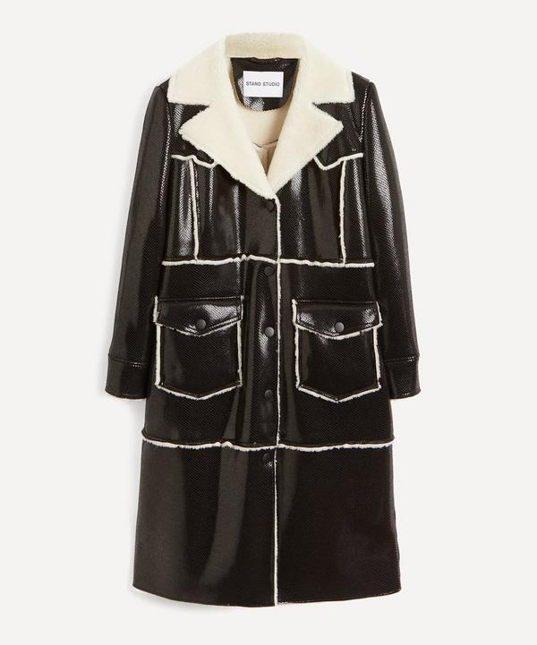 STAND STUDIO - Adele Faux-Shearling Faux-Leather Coat