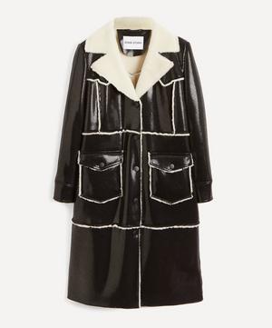Adele Faux-Shearling Faux-Leather Coat