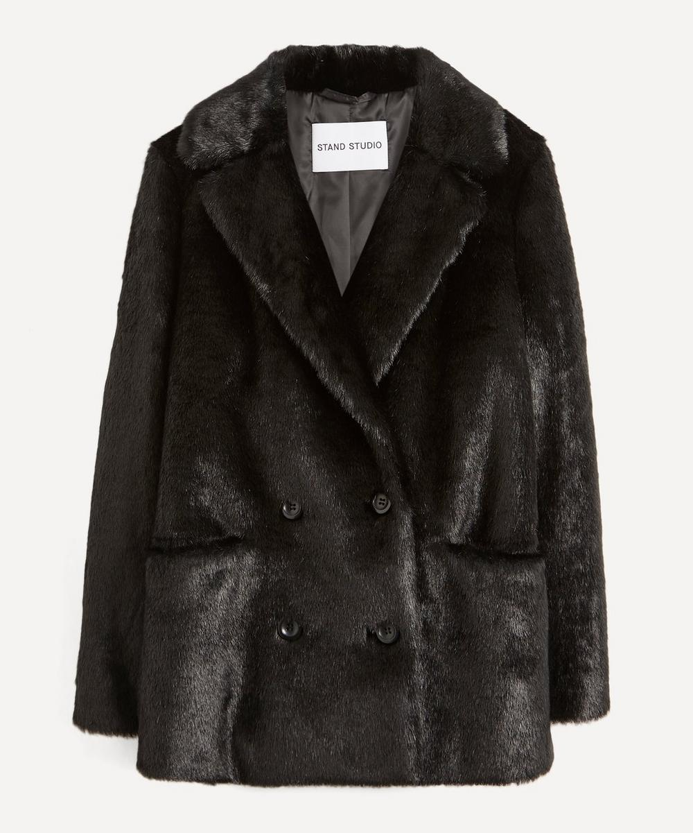 STAND STUDIO - Annabelle Double-Breasted Faux-Fur Jacket