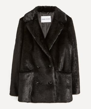 Annabelle Double-Breasted Faux-Fur Jacket