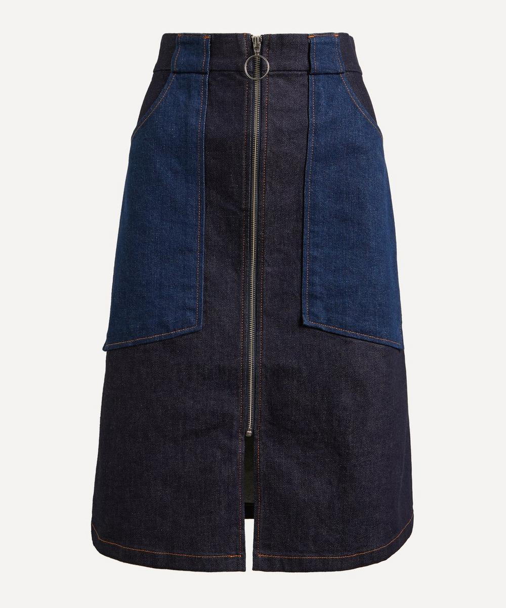 A.P.C. - Joe Two-Tone Denim Skirt image number 0
