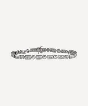 White Gold Mixed-Cut Diamond Bracelet