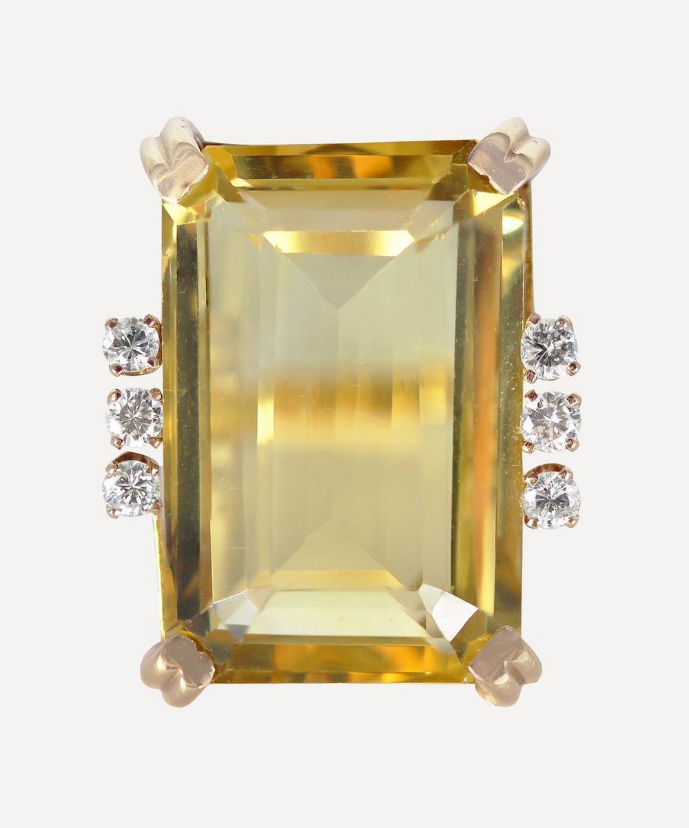 Kojis - Gold Citrine and Diamond Ring