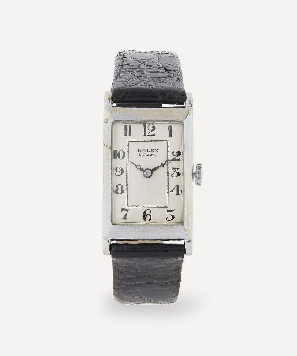 Designer Vintage - 1920s Rolex Unicorn White Metal Watch