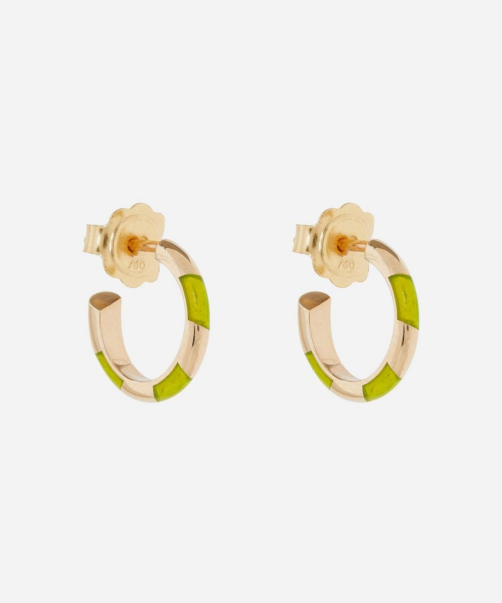 Alice Cicolini - Gold Memphis Single Stripe Candy Hoop Earrings