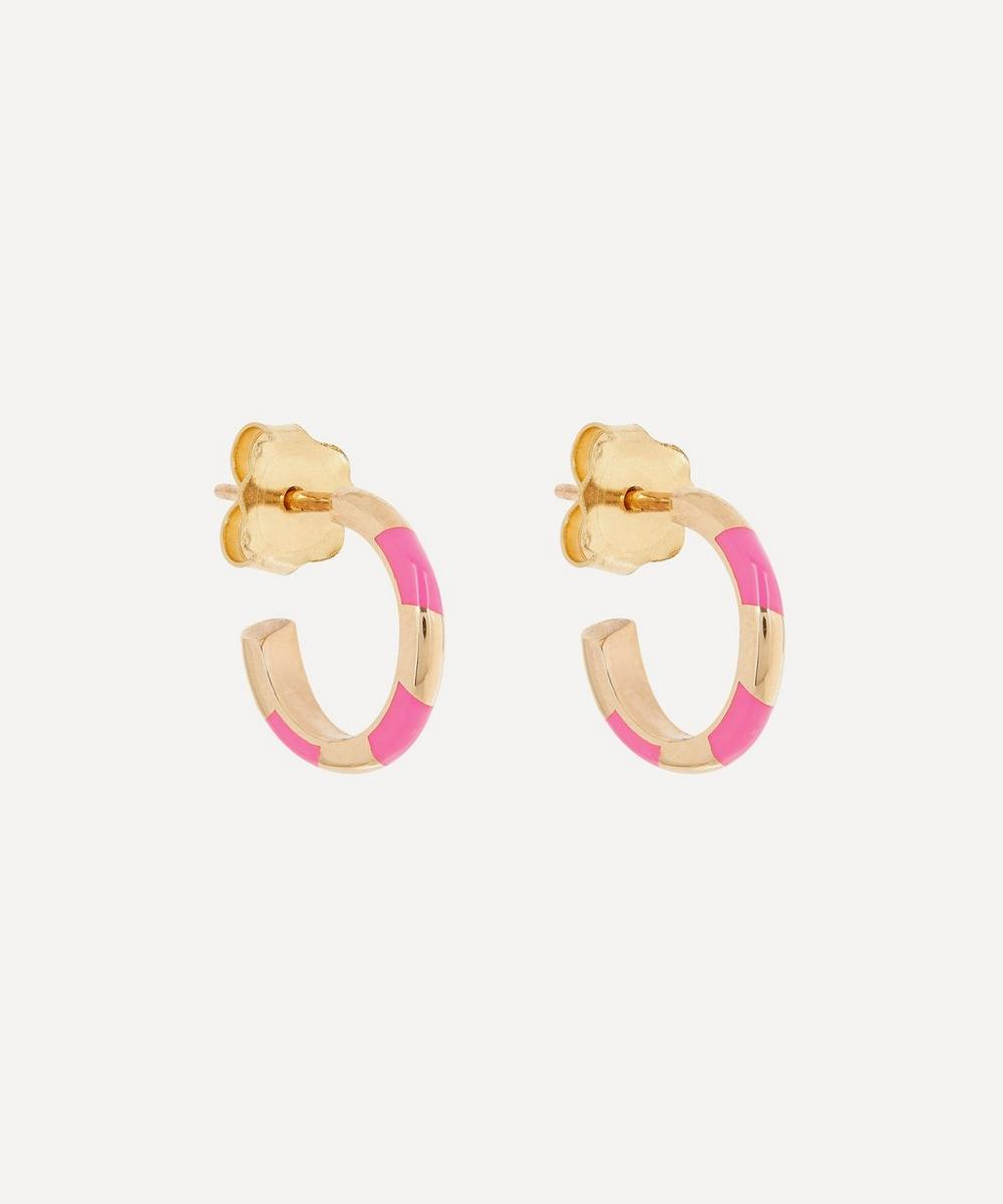 Alice Cicolini - Gold Memphis Single Stripe Candy Hoop Earrings