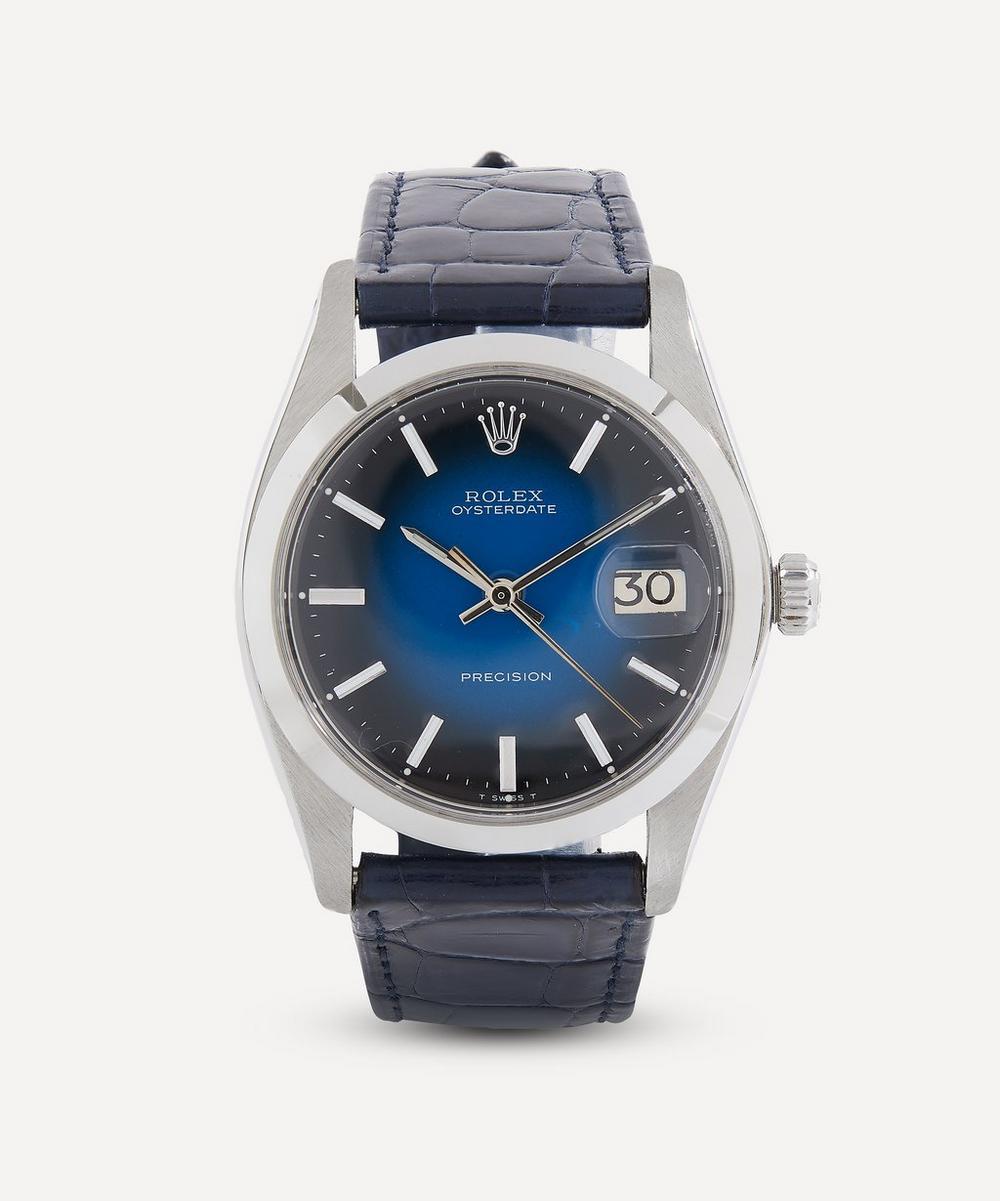 Designer Vintage - 1970s Rolex Oysterdate Precision White Metal Watch