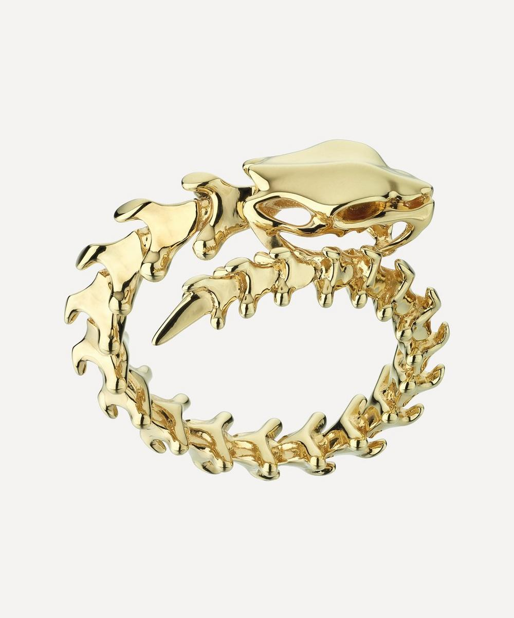 Shaun Leane - Gold Plated Vermeil Silver Serpent's Trace Wrap Ring