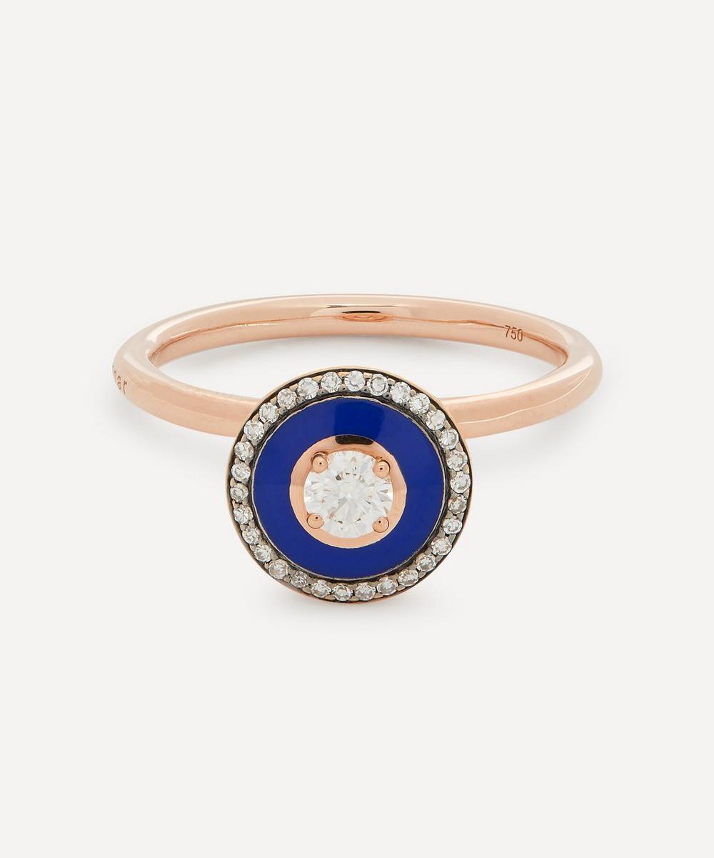 Selim Mouzannar - Rose Gold Mina Diamond Enamel Ring