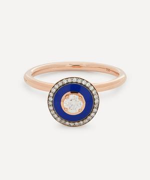 Rose Gold Mina Diamond Enamel Ring