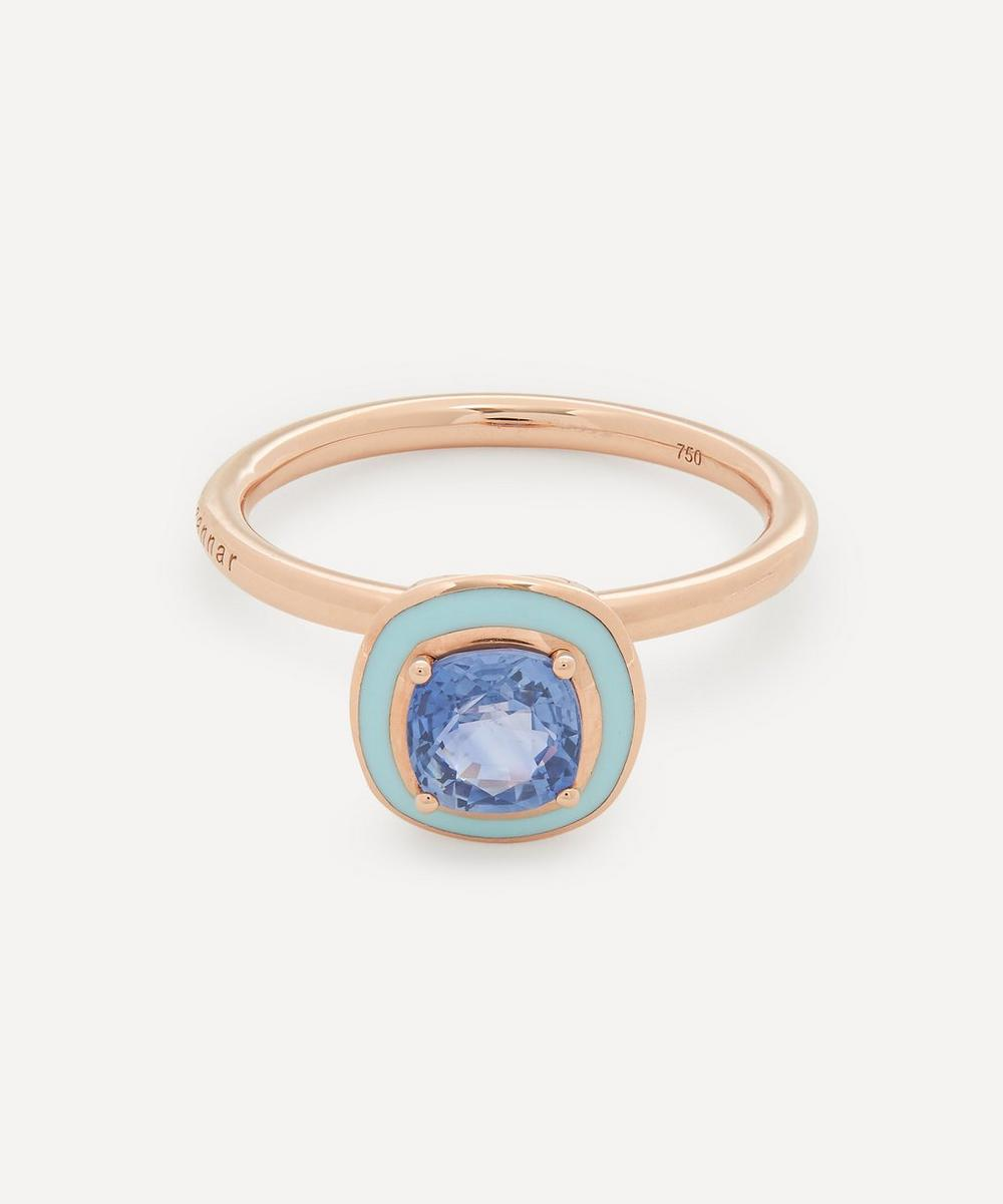 Selim Mouzannar - Rose Gold Mina Blue Sapphire Enamel Ring
