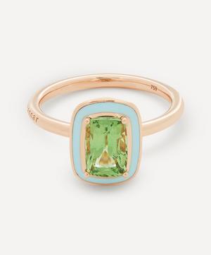 Rose Gold Mina Tsavorite Enamel Ring
