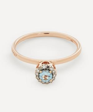 Rose Gold Beirut Aquamarine and Diamond Ring