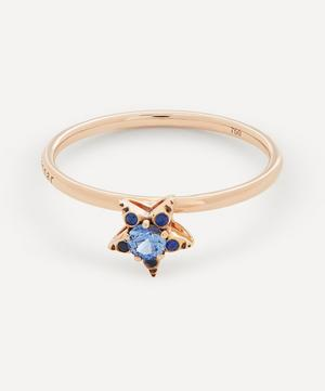 Rose Gold Istanbul Small Blue Sapphire Star Ring