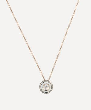 Rose Gold Mina Diamond Enamel Pendant Necklace