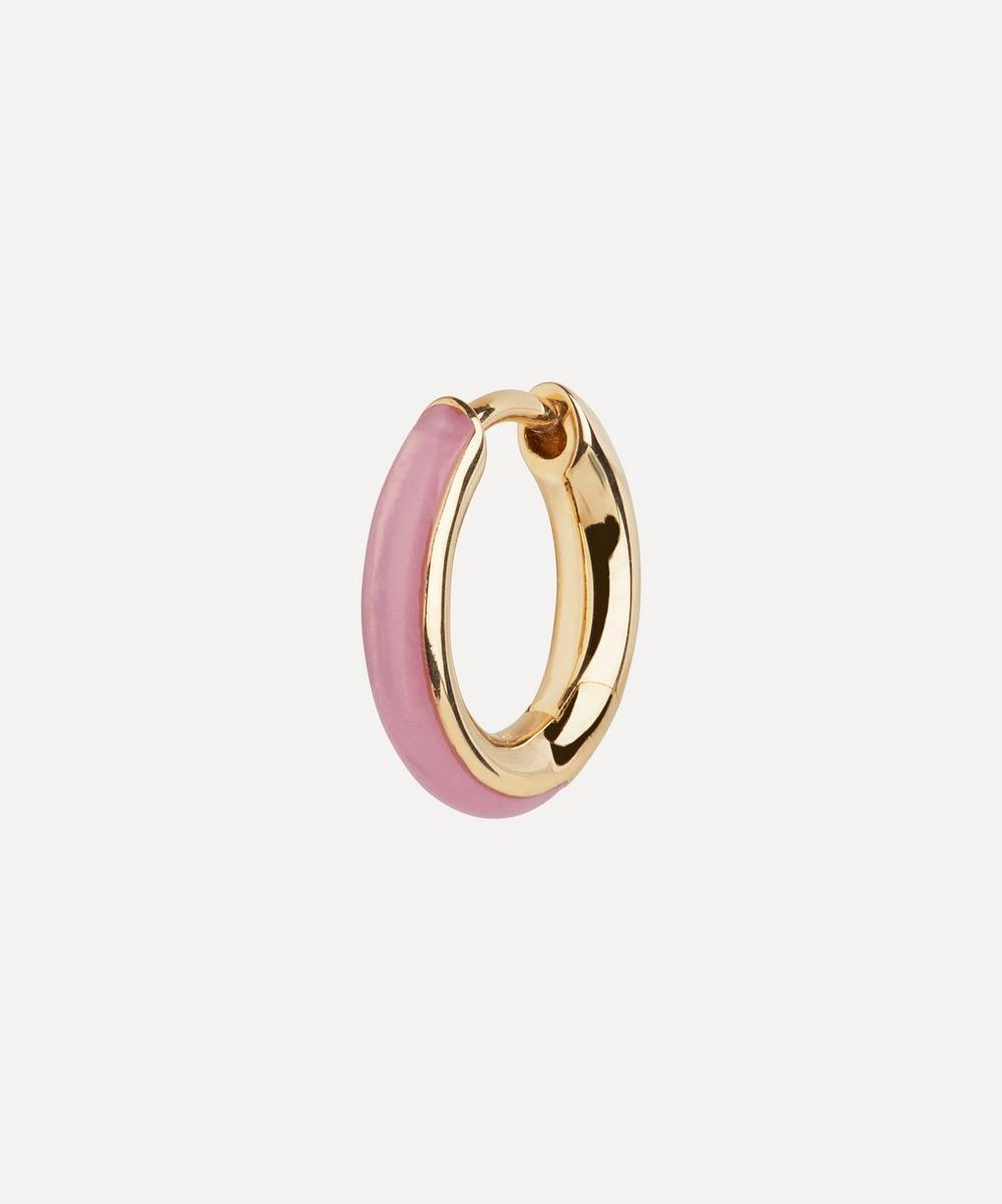 Maria Black - Gold-Plated Kate Lilac Enamel Single Huggie Hoop Earring