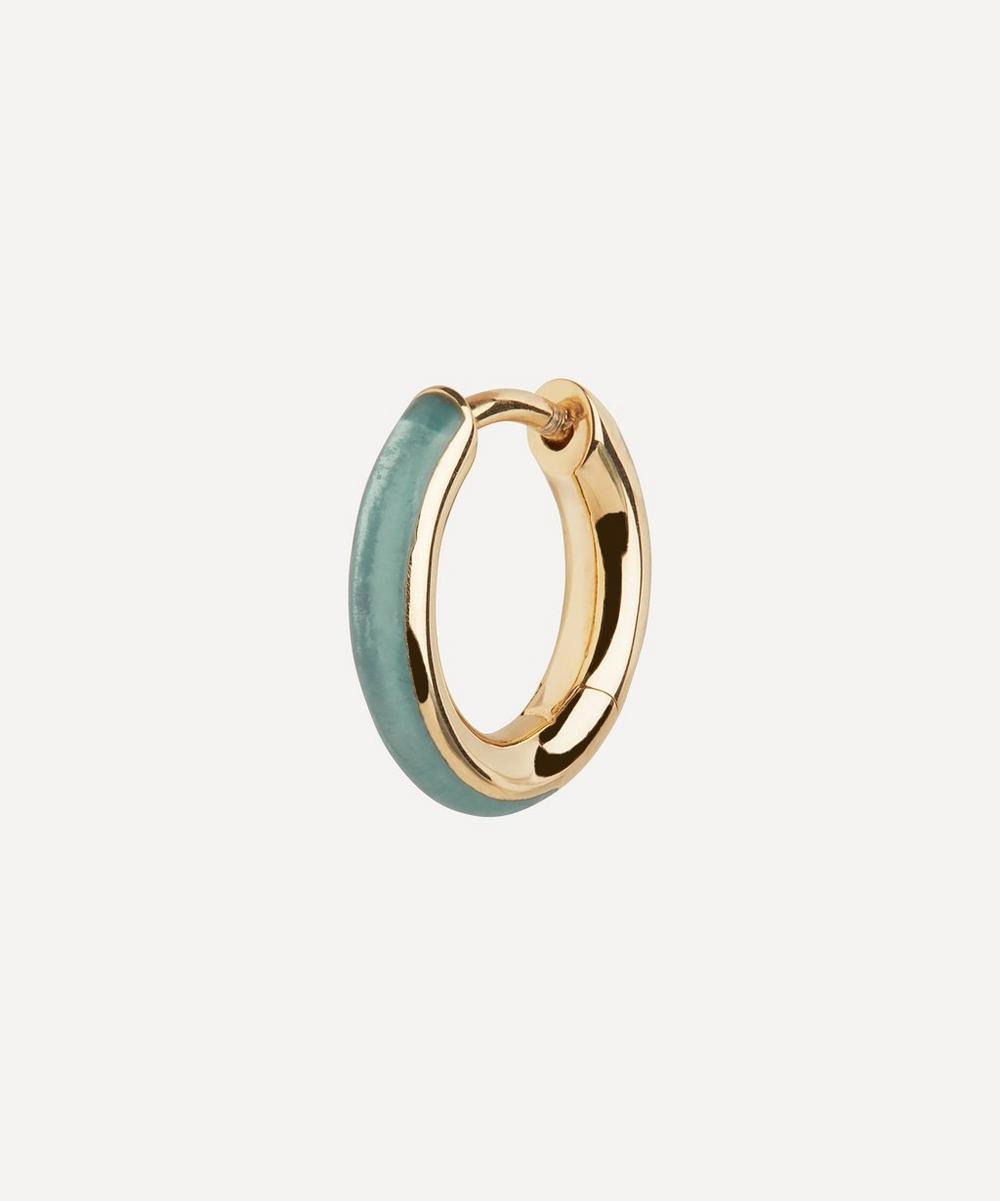 Maria Black - Gold-Plated Kate Ocean Enamel Huggie Hoop Earring