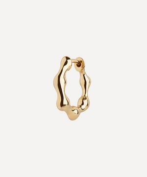 Gold-Plated Milla 9 Huggie Hoop Earring