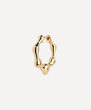 Gold-Plated Milla 11 Huggie Hoop Earring
