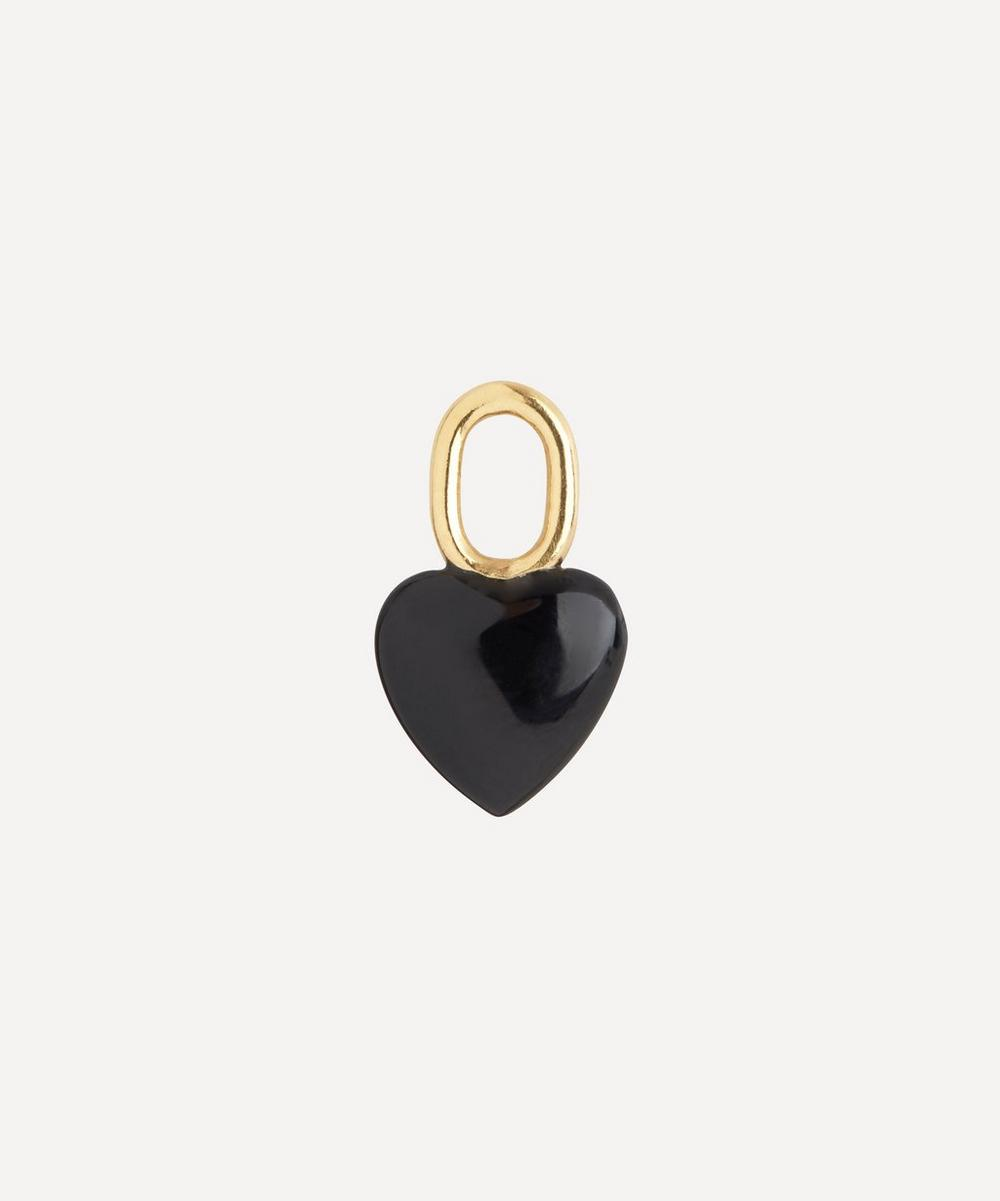 Maria Black - Gold-Plated Onyx Heart Charm