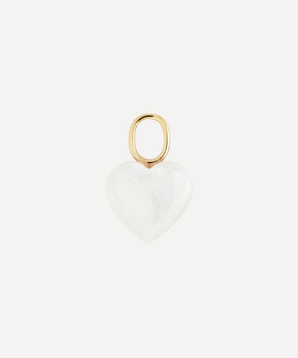 Maria Black - Gold-Plated Mother of Pearl Heart Charm